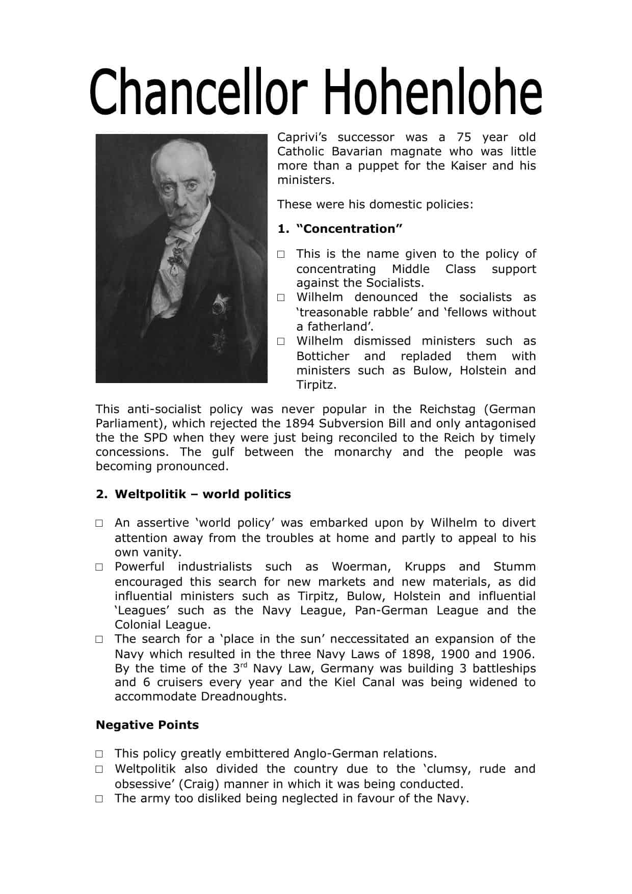 History Of Germany Worksheets