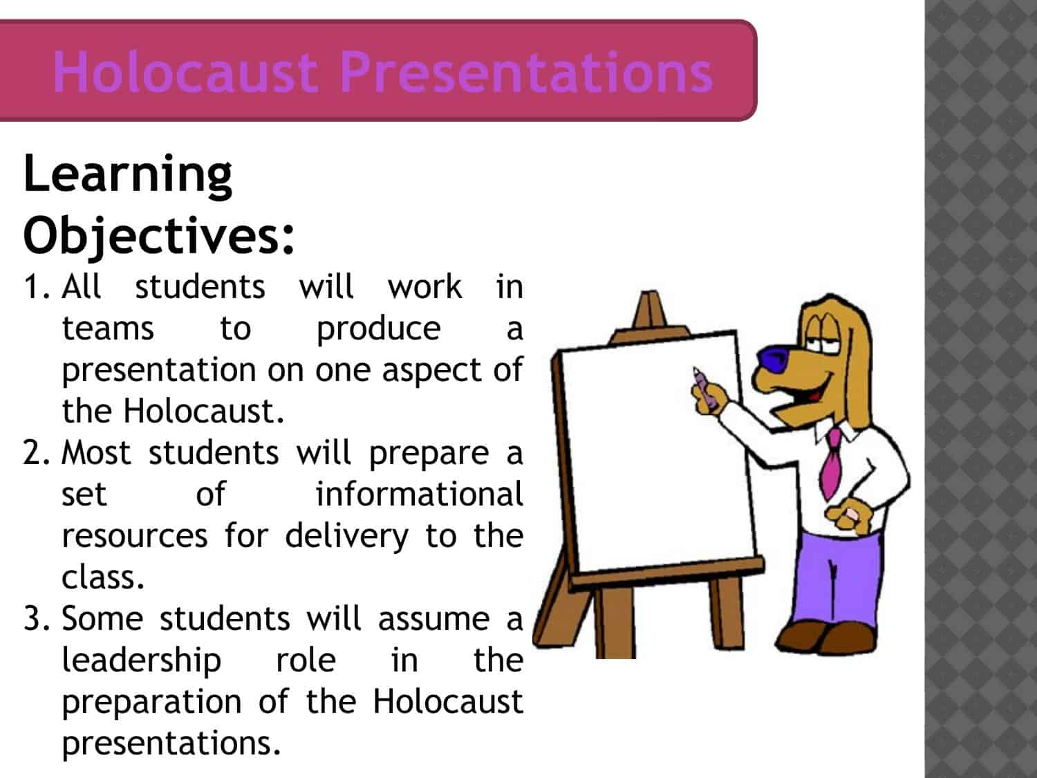 Holocaust Presentation Guidance Powerpoint