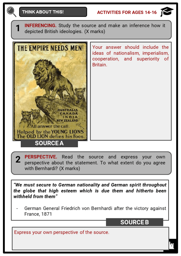Nationalism as a cause of World War I Key Facts & Worksheets