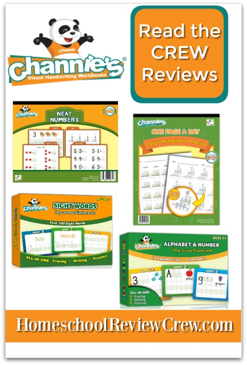 Alphabet, Number & Sight Word Dry Erase, Neat Numbers & Page a Day 2 Didgit Multiplication. {Channie's Visual Handwriting & Math workbooks Reviews}