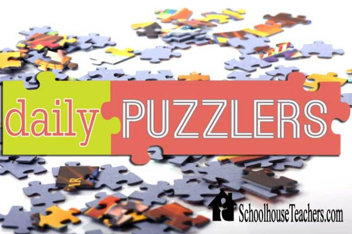Daily Puzzlers Schoolhouse Teachers - schoolhouseteachers.com