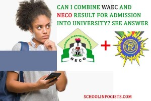 combine waec and neco result for admission into