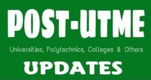 Post-UTME Updates
