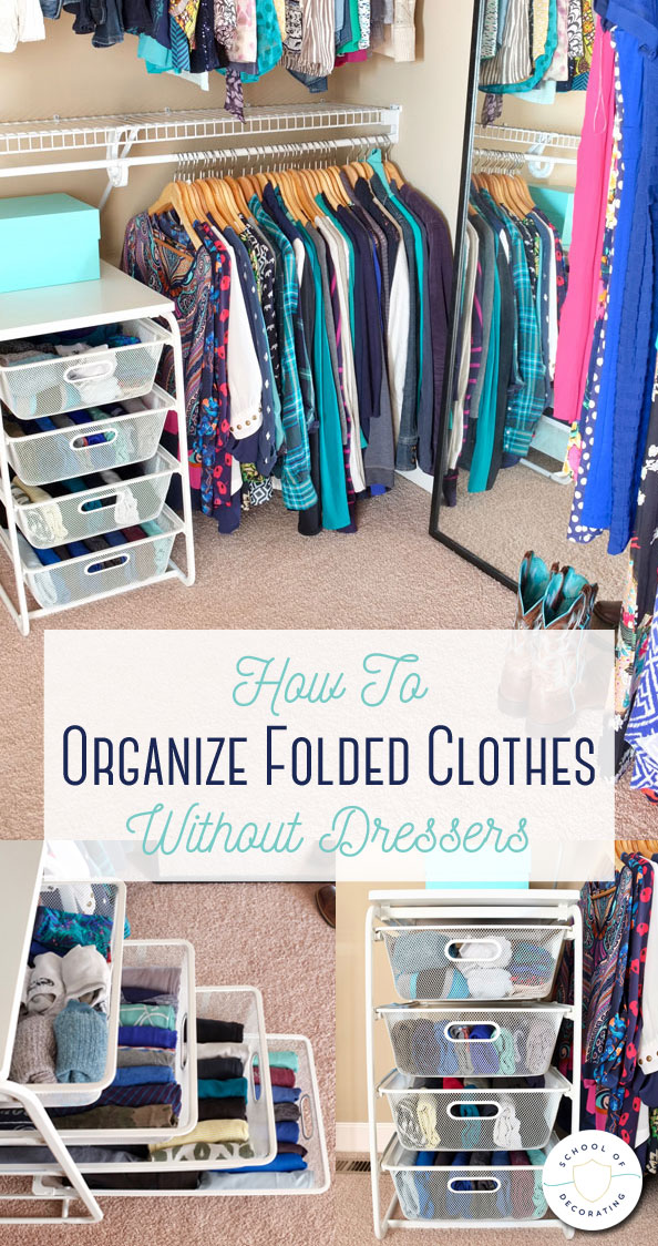 how to organize folded clothes without