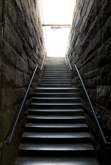 Picture of a Stairway to Manhattan