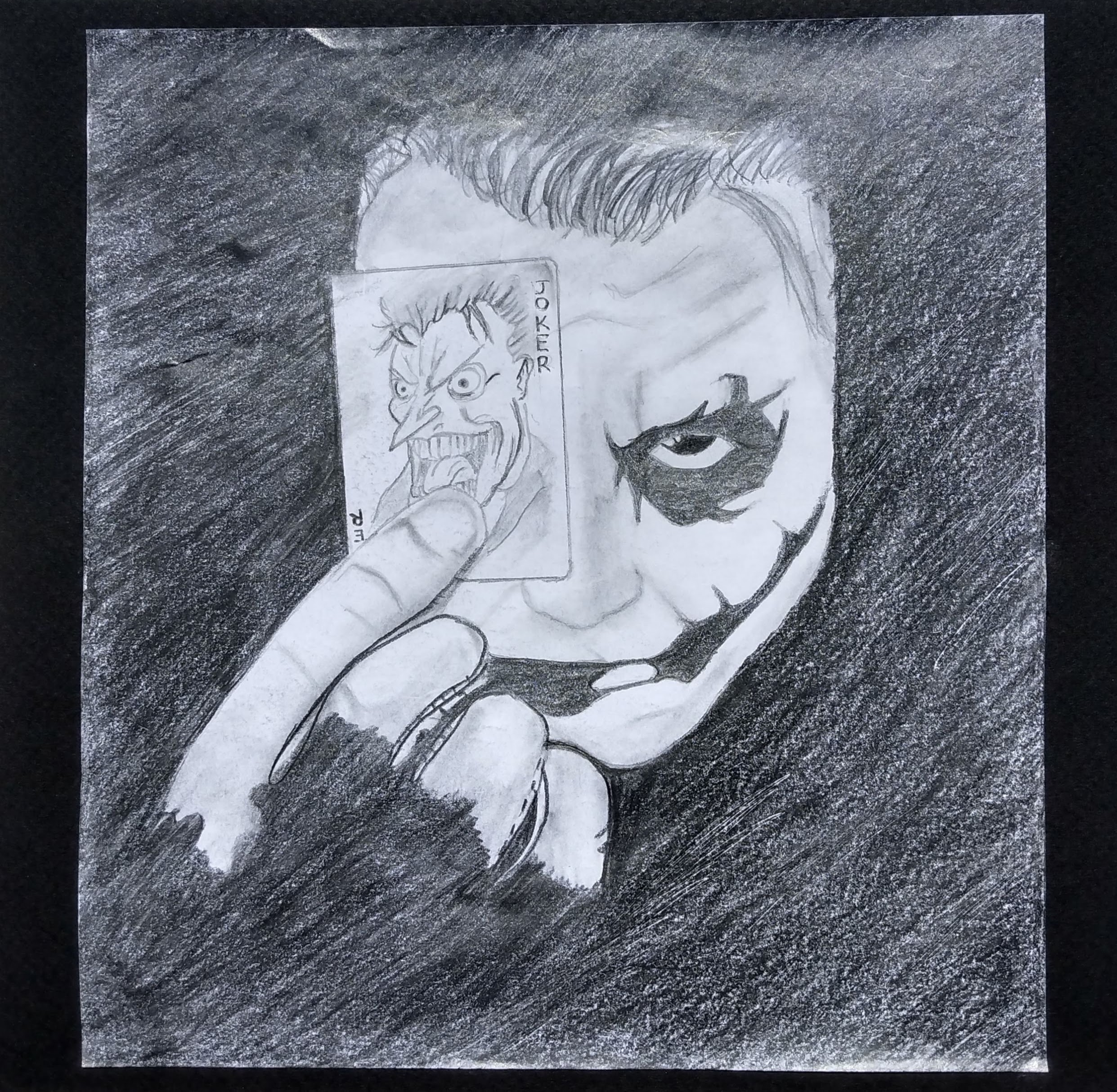 joker charcoal drawing