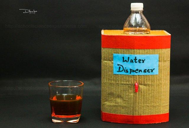 School Science Projects Water Dispenser - School Science