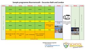 Immersion Programm - Week Programme