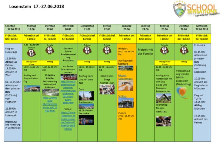 Wochenplan Losenstein