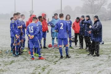 English Schools Football Association Under 18 Boys vs Independent Schools Football Association Under 18 Boys in a friendly match at Lilleshall National Sports Centre on Saturday 20th January 2018 (c) Garry Griffiths | ThreeFiveThree Photography