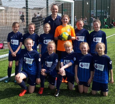 John Anderson with the Gainsborough Girls Team