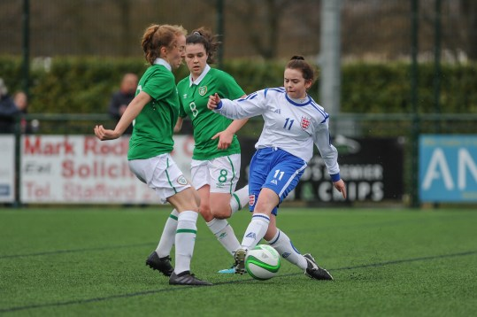 England v Republic of Ireland in a Under 15 John Read Trophy match at Evans Park on Saturday 10th March 2018 (c) Garry Griffiths | ThreeFiveThree Photography