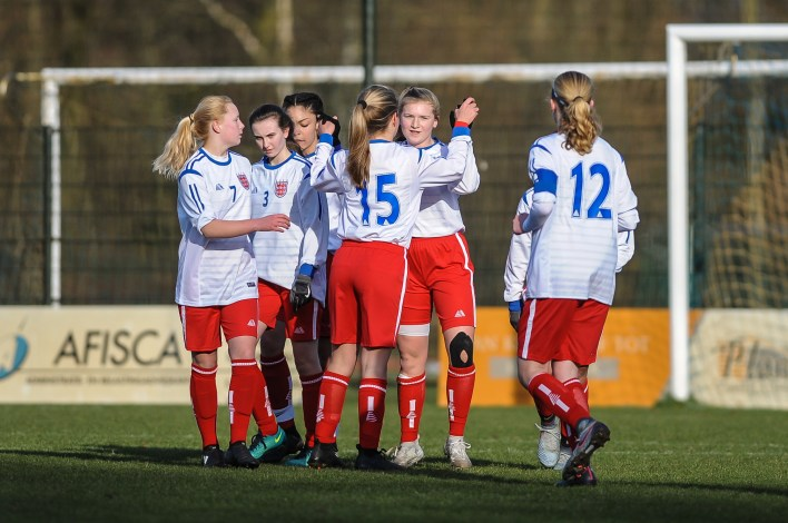 English Schools Football Association Under 15 Girls FC Eindhoven v England at FC Eindhoven on Wednesday 14th February 2018 (c) Garry Griffiths | ThreeFiveThree Photography