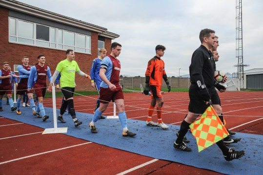 English Schools Football Association friendly match Under 18 Boys vs Royal Air Force Under 23 at RAF Cosford on Saturday 5th January 2019 (c) Garry Griffiths | ThreeFiveThree Photography