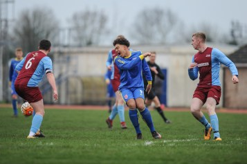 English Schools Football Association friendly match Under 18 Boys vs Royal Air Force Under 23 at RAF Cosford on Saturday 5th January 2019 (c) Garry Griffiths | ThreeFiveThree Photography