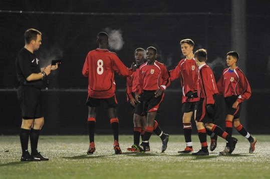 West Midlands CSFA v Merseyside CSFA in a English Schools Football Association Under 14 Boys Inter County Cup Semi Final at Wolves Training Ground on Monday 11th February 2019 (c) Garry Griffiths | ThreeFiveThree Photography
