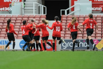 Kent CSFA v Lancashire CSFA in a English Schools Football Association Under 14 Girls Inter County Cup Final at bet365 Stadium on Saturday 12th May 2018 (c) Garry Griffiths | ThreeFiveThree Photography