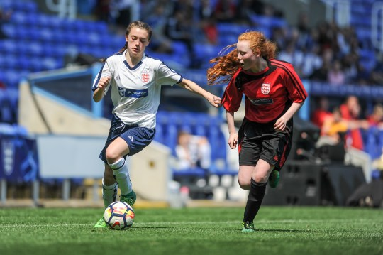Durham Johnston School v Blenheim High School in a English Schools Football Association Girls Under 14 Schools Cup Final at Madejski Stadium on Wednesday 23rd May 2018 (c) Garry Griffiths | ThreeFiveThree Photography