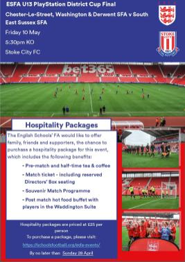 U13 District Cup Hospitality Ad