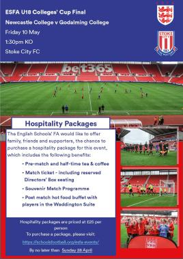 U18 Colleges' Cup - Hospitality ad