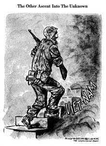 Herblock cartoon. Vietnam, the ascent into the unknown