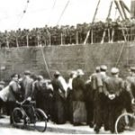 The British Expeditionary Force arriving in France, 1914
