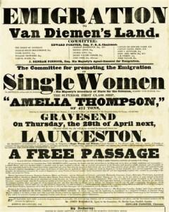Emigration. Free Passage to Australia. Poster encouraging migration