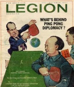 Magazine cover illustrating ping pong diplomacy