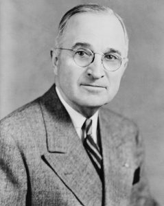 President Truman oversaw the increased US involvement in Europe after the Second World War