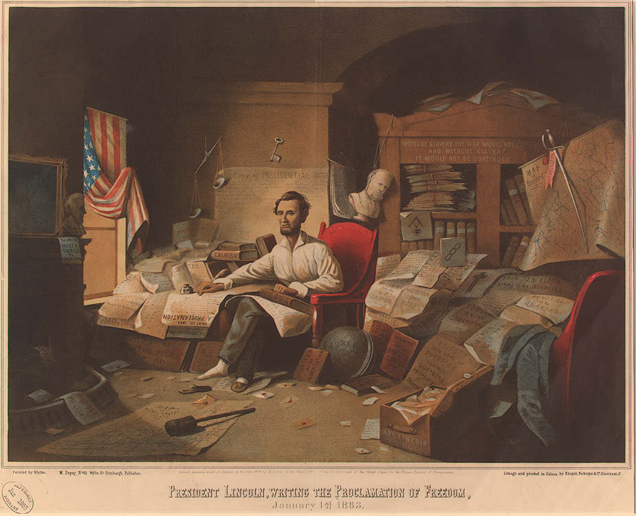 Abraham Lincoln Writing the Emancipation Proclamation - Image Analysis