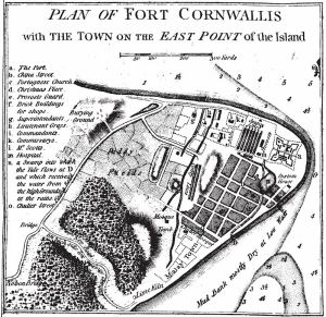 Fort Cornwallis, George Town, Malaysia. British fort from the imperial age.
