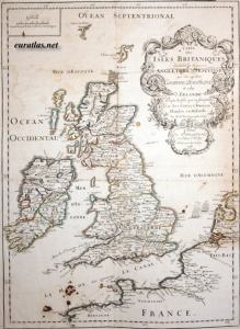 British Isles in 1688, prior to the British in Ireland launching the Williamite wars