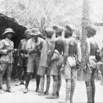 Soldiers of the British Indian Army receiving inoculations, Mesopotamia 1916