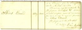 Extrtait de la page du registre spécial concernant Edmond Albius, l'inventeur de la fécondation artificielle de la vanille.