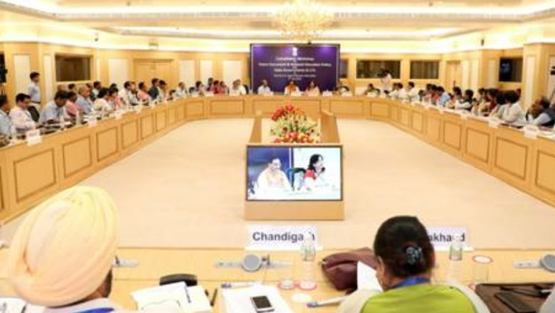 Union HRD Minister Chairs Consultation Workshop on National Education Policy