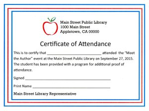 Certificate of Attendance273