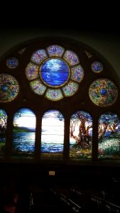 The community outreach of the 252-year-old First Presbyterian Church of Albany is wide-reaching. (Notice the extraordinary Tiffany windows. Inspirational!)