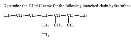 How To Name Branched Chain Alkanes