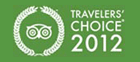 2012 Travellers' Choice badge award