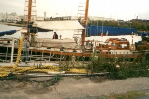 Koukla at the dock in Rockland