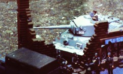 Tiger I in the ruins.