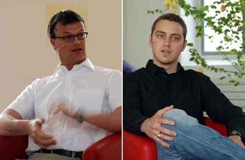 André Zimmermann (links) und Jonas Wieland