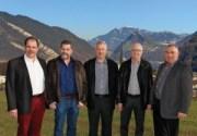von links: Benno Dillier, Huby Kunz, Benno Peter, Klaus Wallimann (bisher) und Marcel Jöri.