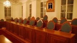 Die Regierungsbank im Kantonsratssaal.