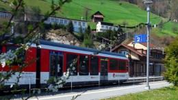 Zentralbahn beim Bahnhof Alpnachstad