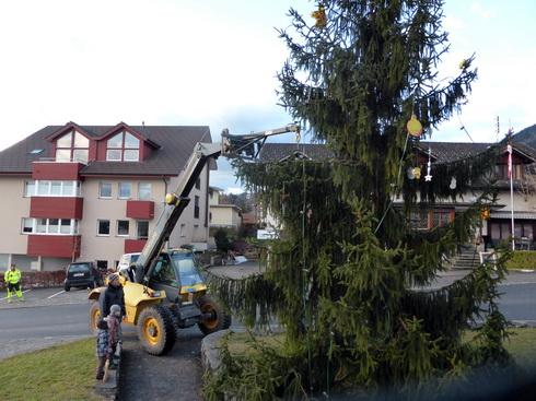 Der Christbaum 2014 wird abgeräumt und entsorgt