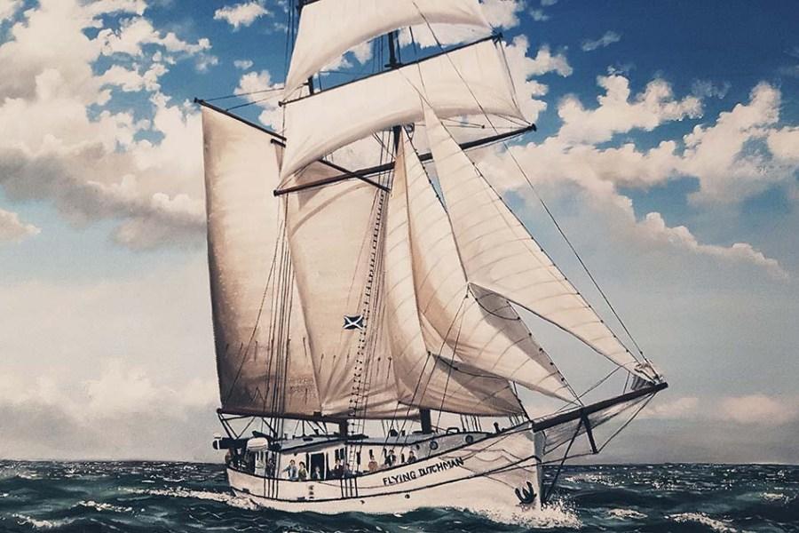 Die Flying Dutchman segelt auf ihrer Segelreise um Schottland; eine perfekte Art und Weise seinen Schottlandurlaub zu verbringen.