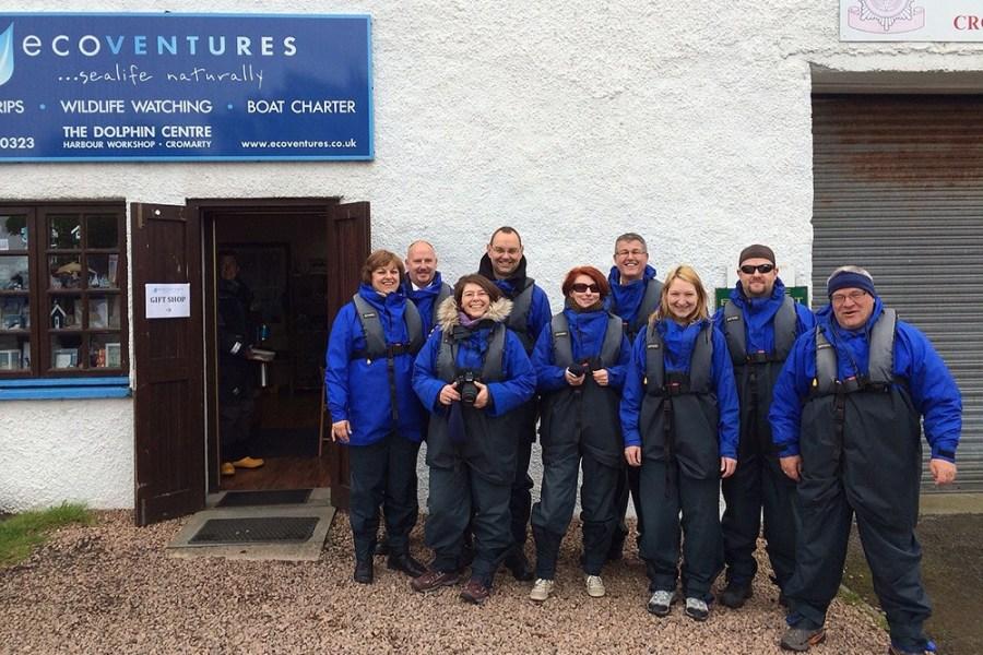 Von Cromarty aus startet unsere Delfin-Bootstour unserer Whiskyreise.