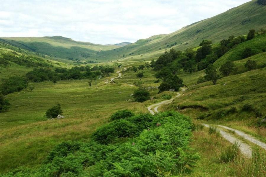 Die Wandertour auf dem Trossachs Trail folgt alten Viehtreiberrouten durch die Berge.