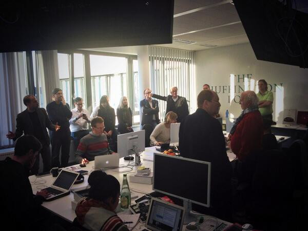 Blogger-Treffen in der Huffington Post: Blick in die Redaktion